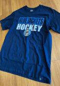 Columbus Blue Jackets 47 Blockout Super Rival T Shirt - Navy Blue