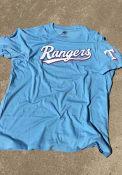 Texas Rangers 47 Two Peat Club T Shirt - Light Blue