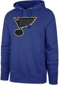 St Louis Blues 47 Imprint Headline Hooded Sweatshirt - Blue