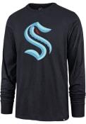 Seattle Kraken 47 Primary Logo T Shirt - Navy Blue