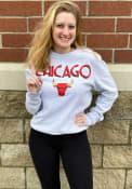 Chicago Bulls 47 City Series Headline Crew Sweatshirt - Grey