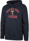 Minnesota Twins 47 Varsity Arch Headline Hooded Sweatshirt - Navy Blue