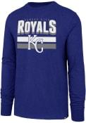Kansas City Royals 47 Double Stripe Club T Shirt - Blue