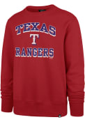 Texas Rangers 47 Grounder Headline Crew Sweatshirt - Red