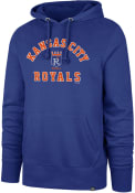 Kansas City Royals 47 Varsity Arch Headline Hooded Sweatshirt - Blue
