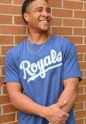 47 Kansas City Royals Blue Script Logo Flanker MVP Fashion Tee