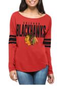 47 Chicago Blackhawks Womens Courtside Red LS Tee
