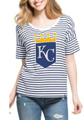 47 Kansas City Royals Womens Blue Coed Stripe Scoop