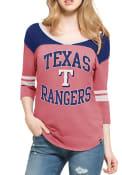 47 Texas Rangers Womens Red Replay Rush T-Shirt