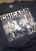47 Chicago Blackhawks Black Crosstown Flanker Fashion Tee