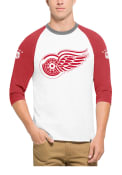 47 Detroit Red Wings White Veterans Raglan Fashion Tee