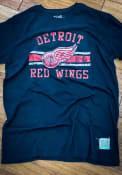Original Retro Brand Detroit Red Wings Black Vintage Fashion Tee
