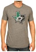Original Retro Brand Dallas Gray State Logo Tri-Blend Fashion Tee
