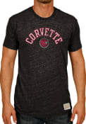 Original Retro Brand Black Corvette Logo Short Sleeve T Shirt