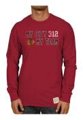 Original Retro Brand Chicago Blackhawks Red Slub Fashion Tee