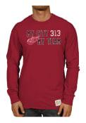 Original Retro Brand Detroit Red Wings Red Slub Fashion Tee