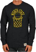 Original Retro Brand Wichita State Shockers Black Basketball Fashion Tee