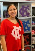 Kansas City Monarchs Womens Original Retro Brand Nicole T-Shirt - Red