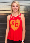 Kansas City Monarchs Womens Original Retro Brand Lauren Tank Top - Red