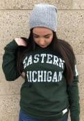 Original Retro Brand Eastern Michigan Eagles Green Arch Fashion Tee