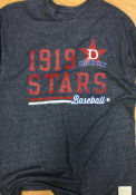 Detroit Stars Original Retro Brand Mock Twist Fashion T Shirt - Navy Blue