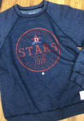 Original Retro Brand Detroit Stars Navy Blue Raglan Crew Fashion Sweatshirt