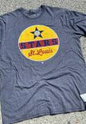 St Louis Stars Original Retro Brand Mock Twist Fashion T Shirt - Charcoal