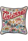 Cincinnati 20x20 Embroidered Pillow