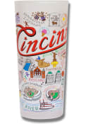 Cincinnati Illustrated Frosted Pint Glass