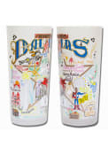 Dallas Ft Worth 15oz Illustrated Frosted Pint Glass