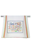 America Embroidered Dish Towel