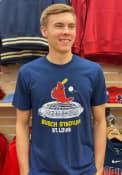 St Louis Cardinals Busch Stadium Fashion T Shirt - Navy Blue
