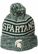 Michigan State Spartans Zephyr Lincoln Retro Pom Knit - Green