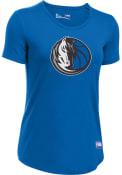 Under Armour Dallas Mavericks Womens Primary Logo Blue T-Shirt