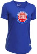 Under Armour Detroit Pistons Womens Primary Logo Blue T-Shirt