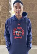 Wichita Wind Surge Under Armour Circle Baseball Hooded Sweatshirt - Navy Blue