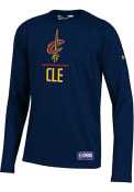 Under Armour Cleveland Cavaliers Youth Navy Blue Lockup T-Shirt