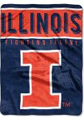 Illinois Fighting Illini 60x80 Basic Raschel Blanket