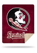 Florida State Seminoles 60x72 Silver Knit Throw Blanket