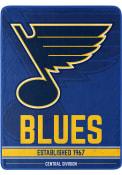 St Louis Blues Break Away Raschel Blanket