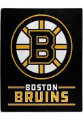 Boston Bruins Interference Raschel Blanket