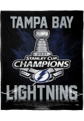 Tampa Bay Lightning 2021 Stanley Cup Champions Silk Touch Fleece Blanket