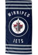 Winnipeg Jets Stripes Beach Towel