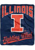 Illinois Fighting Illini Silk Touch Fleece Blanket