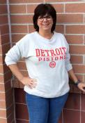 Detroit Pistons Womens Commit White Crew Sweatshirt