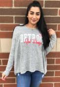 Detroit Red Wings Womens Grey Reprise Hoodie