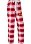 Chicago Blackhawks Womens Headway Plaid Red Sleep Pants