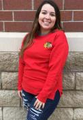 Chicago Blackhawks Womens Lunar Quilted Crew Sweatshirt - Red