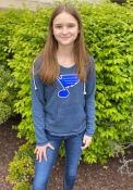 St Louis Blues Womens Mainstream Hooded Sweatshirt - Navy Blue