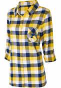 St Louis Blues Womens Breakout Plaid Sleep Shirt - Blue